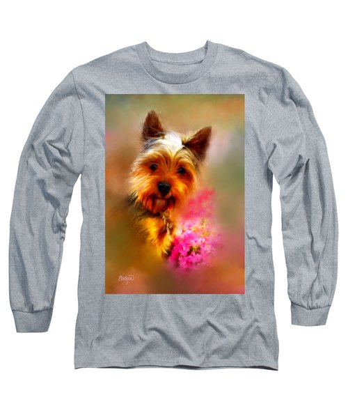 Yorkie Portrait Long Sleeve T-Shirt
