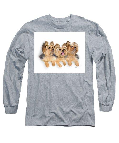 Yorkie Trio Long Sleeve T-Shirt