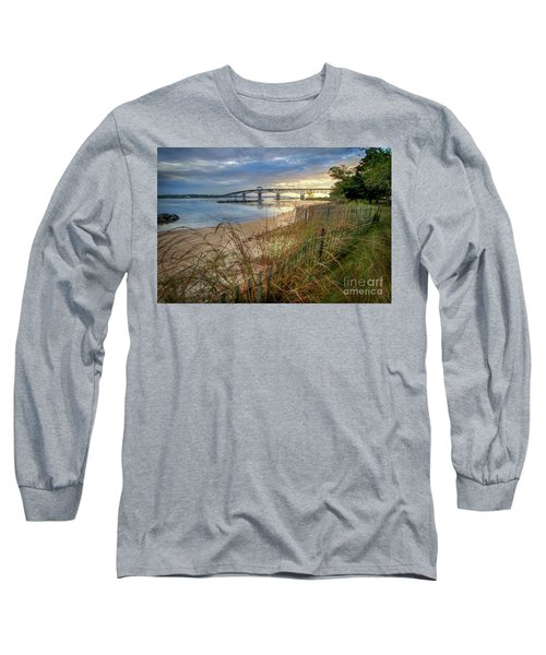 Yorktown Beach Sunrise Virginia Long Sleeve T-Shirt