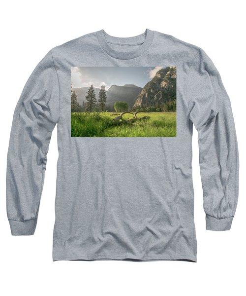 Sundown On The Valley Long Sleeve T-Shirt by Ryan Weddle