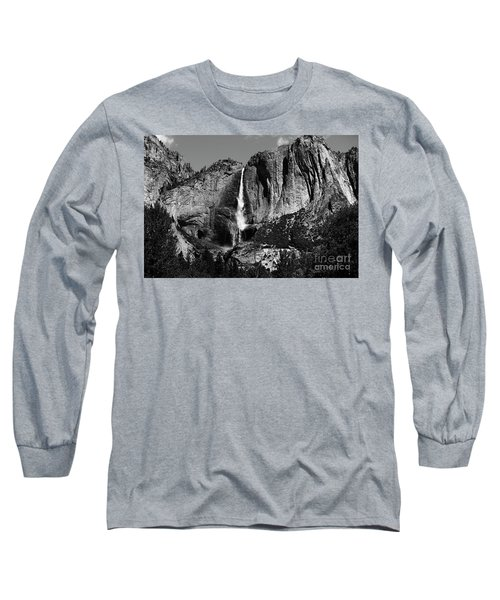 Yosemite Black Falls  Long Sleeve T-Shirt