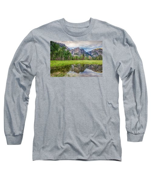 Yosemite Falls And Reflections 2 Long Sleeve T-Shirt