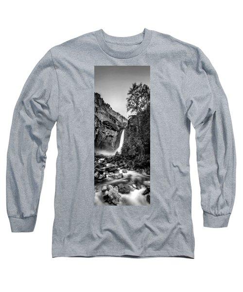 Yosemite Waterfall Bw Long Sleeve T-Shirt