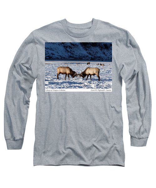 Young Bull Elk In Jackson  Hole In Wyoming Long Sleeve T-Shirt