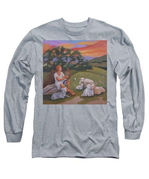Young David As A Shepherd Long Sleeve T-Shirt