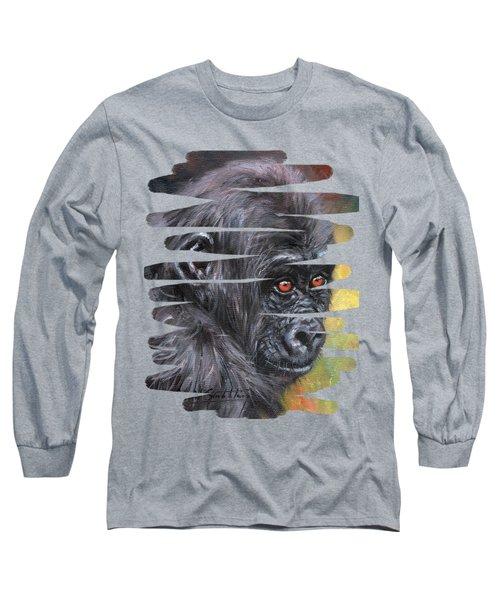 Young Gorilla Portrait Long Sleeve T-Shirt