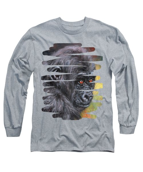 Young Gorilla Portrait Long Sleeve T-Shirt
