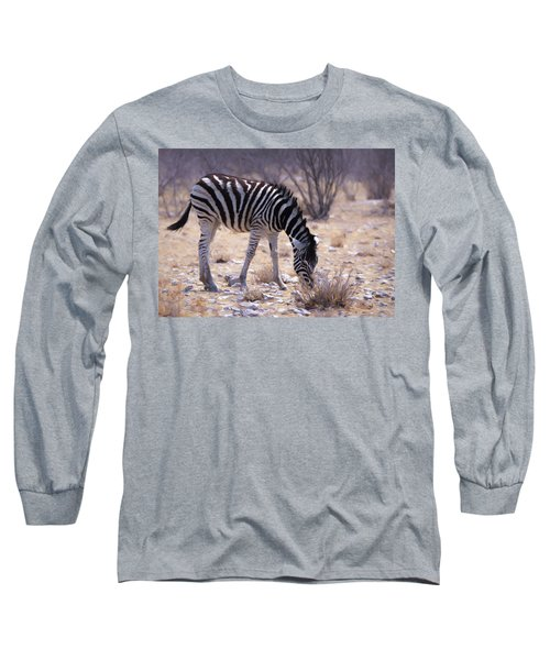 Long Sleeve T-Shirt featuring the digital art Young Plains Zebra by Ernie Echols
