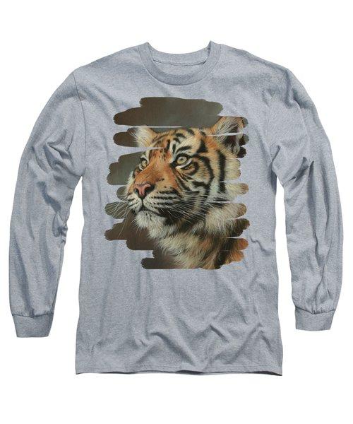 Young Sumatran Tiger Portrait Long Sleeve T-Shirt