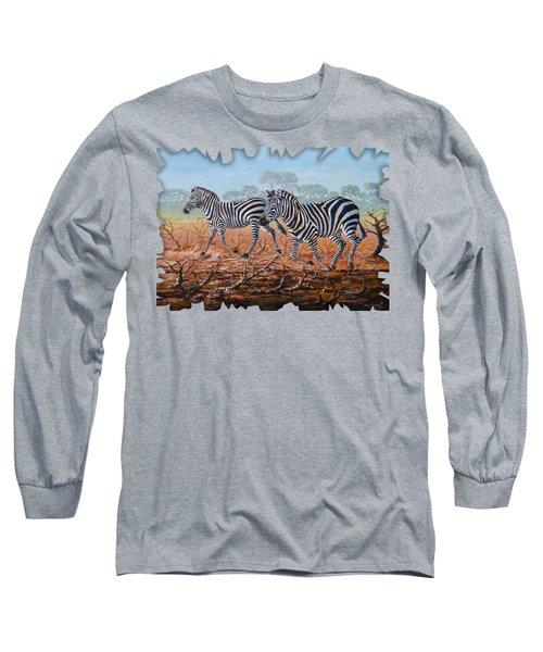 Zebra Crossing Long Sleeve T-Shirt