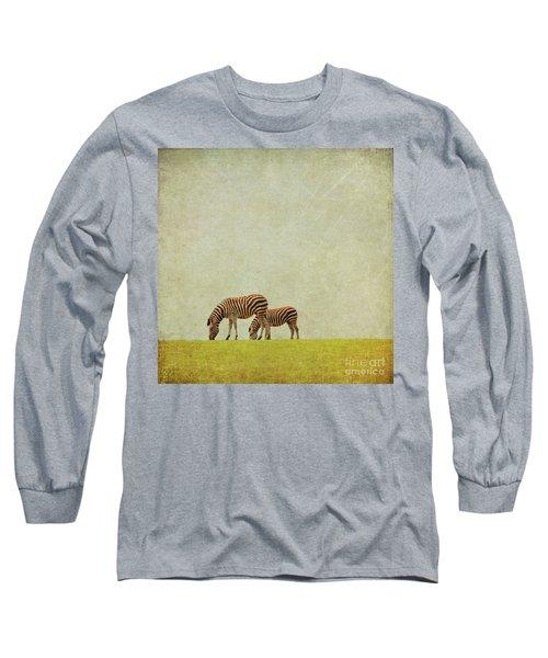 Zebra Long Sleeve T-Shirt by Lyn Randle