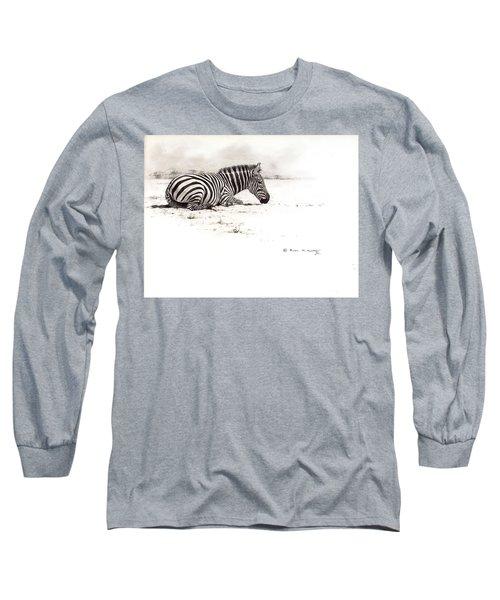 Zebra Sketch Long Sleeve T-Shirt