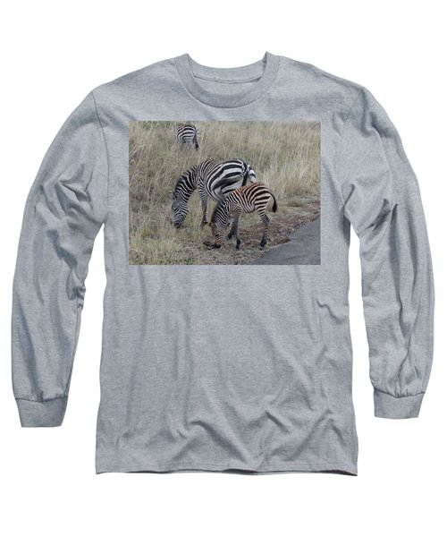 Zebras In Kenya 1 Long Sleeve T-Shirt