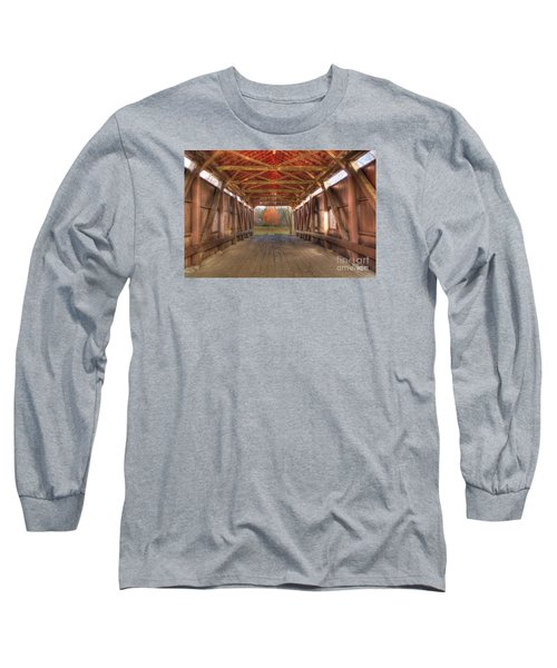 Sycamore Park Covered Bridge Long Sleeve T-Shirt
