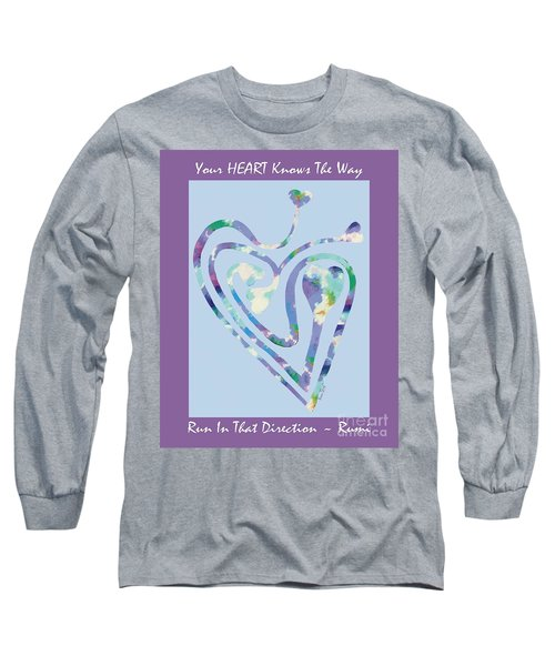 Zen Heart Labyrinth Pastel Painting Long Sleeve T-Shirt