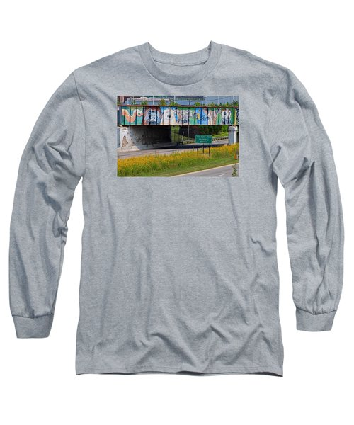 Long Sleeve T-Shirt featuring the photograph Zoo Mural by Michiale Schneider