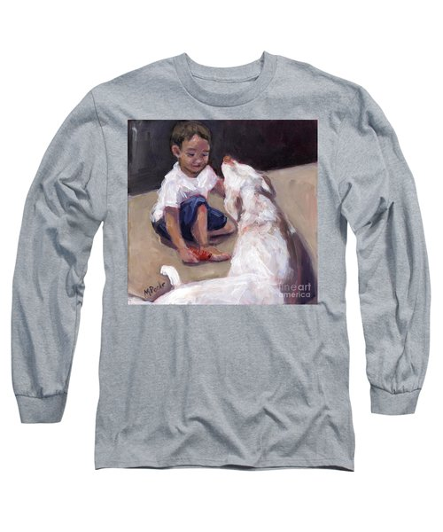 Zoom Groom Long Sleeve T-Shirt by Molly Poole