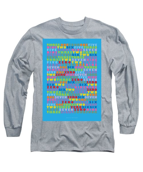 127 Digits Of Pi In English Long Sleeve T-Shirt