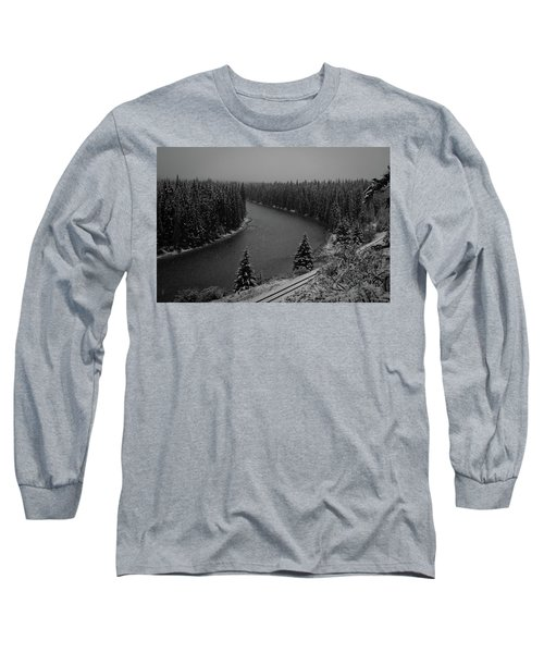 A View From The Side Of The Bow Valley Parkway, Banff National P Long Sleeve T-Shirt