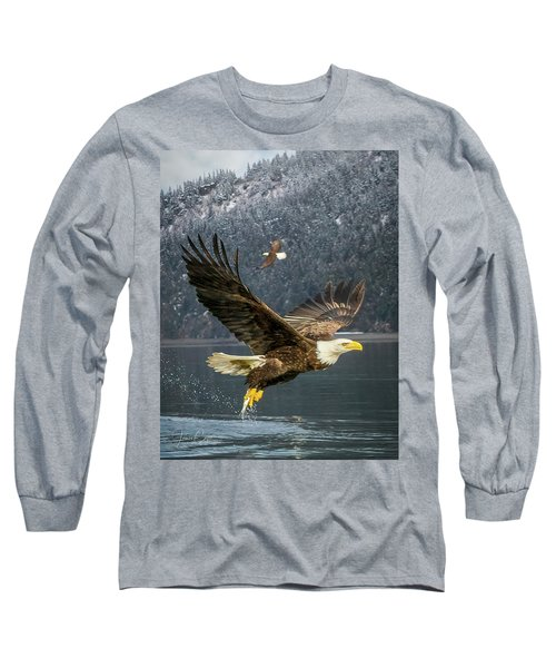 Bald Eagle With Catch Long Sleeve T-Shirt