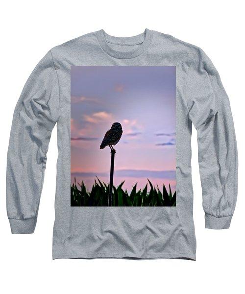 Burrowing Owl On A Stick Long Sleeve T-Shirt
