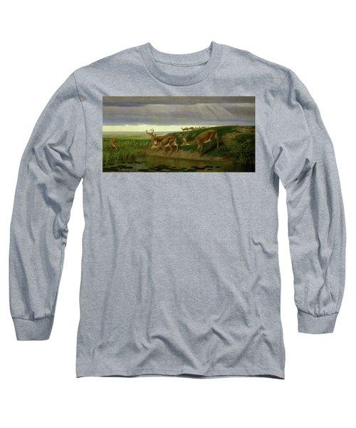 Deer On The Prairie Long Sleeve T-Shirt