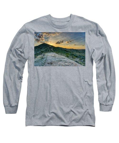 Dramatic Mountain Sunset  Long Sleeve T-Shirt