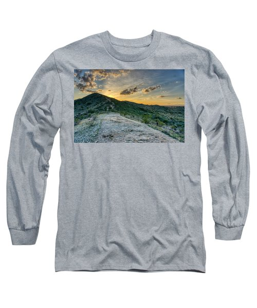Dramatic Mountain Sunset  Long Sleeve T-Shirt
