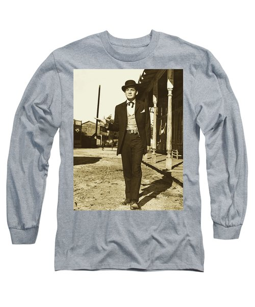 Gene Barry As Bat Masterson - 1958 Long Sleeve T-Shirt