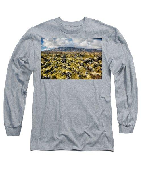 Lava Field Of Iceland Long Sleeve T-Shirt