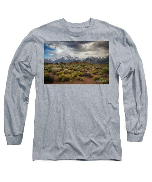 Sierra Nevada Mountain Range Long Sleeve T-Shirt