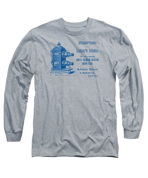 1893 Stereopticons And Lantern Slides Long Sleeve T-Shirt
