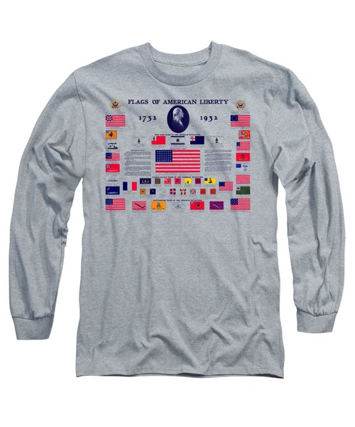 1932 Flags Of American Liberty Long Sleeve T-Shirt
