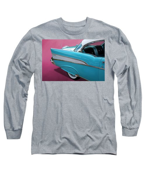 Turquoise 1957 Chevrolet Bel Air Long Sleeve T-Shirt
