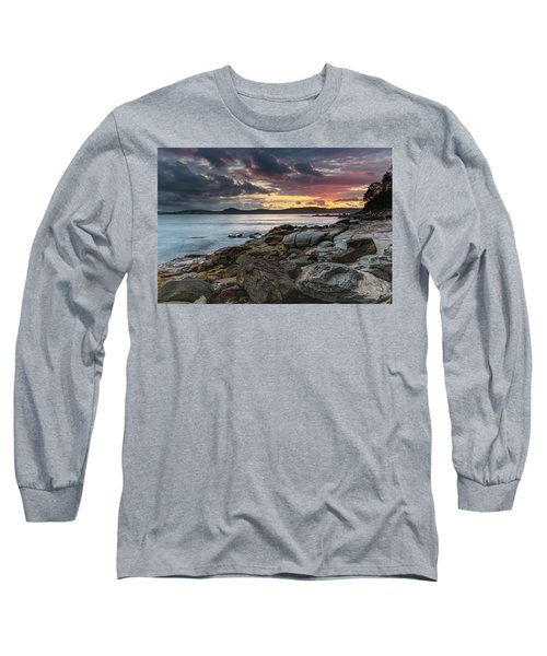 Colours Of A Stormy Sunrise Seascape Long Sleeve T-Shirt