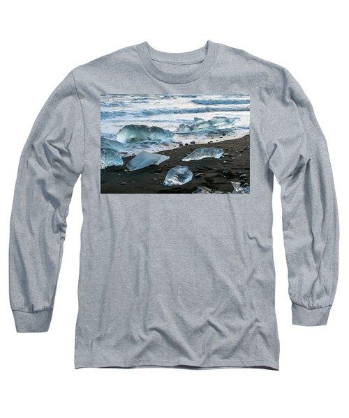 The Diamond Beach, Jokulsarlon, Iceland Long Sleeve T-Shirt