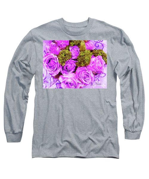 Lv With Lilac Roses  Long Sleeve T-Shirt