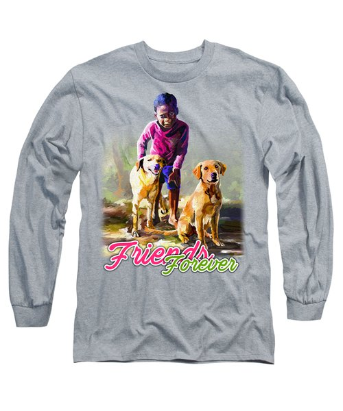 Boy And His Dogs Long Sleeve T-Shirt