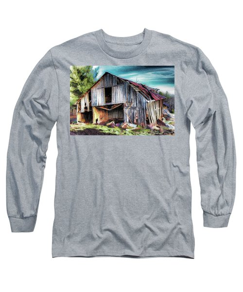 A Classic Vintage Barn In The Blue Ridge Ap Long Sleeve T-Shirt