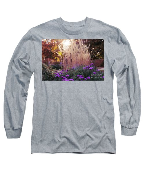 A Flower Bed In The Autumn Park Long Sleeve T-Shirt
