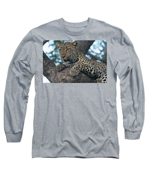 A Focused Leopard Long Sleeve T-Shirt