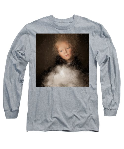 A Girl With The Hand Fan Long Sleeve T-Shirt