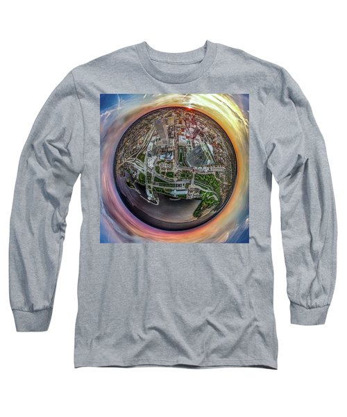 Long Sleeve T-Shirt featuring the photograph Above The Calling Little Planet by Randy Scherkenbach
