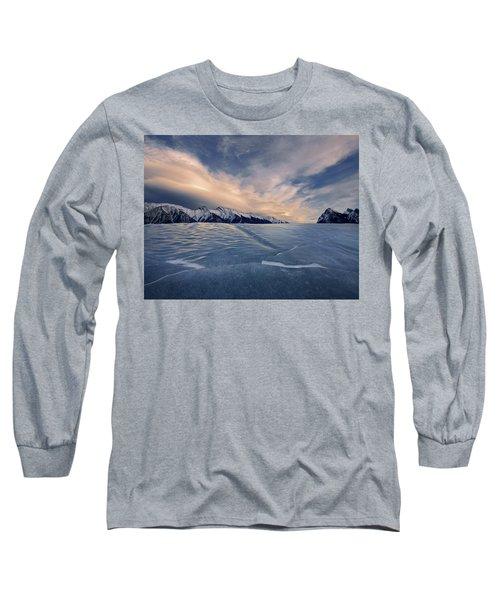 Abraham Lake Ice Wall Long Sleeve T-Shirt