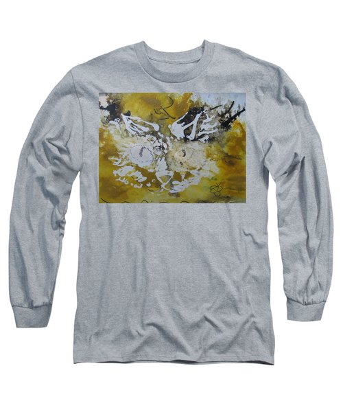Abstract Cat Face Yellows And Browns Long Sleeve T-Shirt