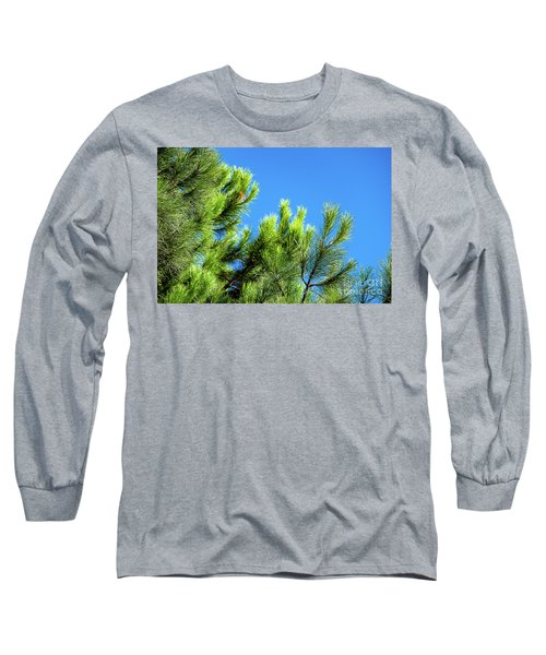 Adriatic Pine Against Blue Sky  Long Sleeve T-Shirt