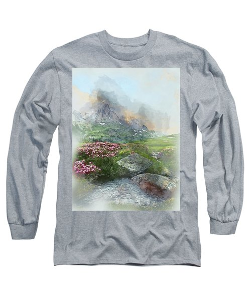 Afternoon Light In The Alps II Long Sleeve T-Shirt