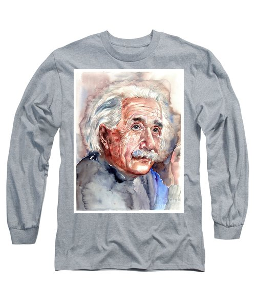 Albert Einstein Portrait Long Sleeve T-Shirt