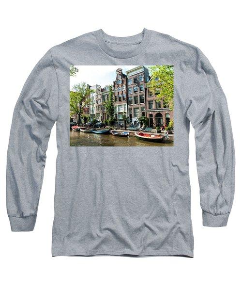 Along An Amsterdam Canal Long Sleeve T-Shirt