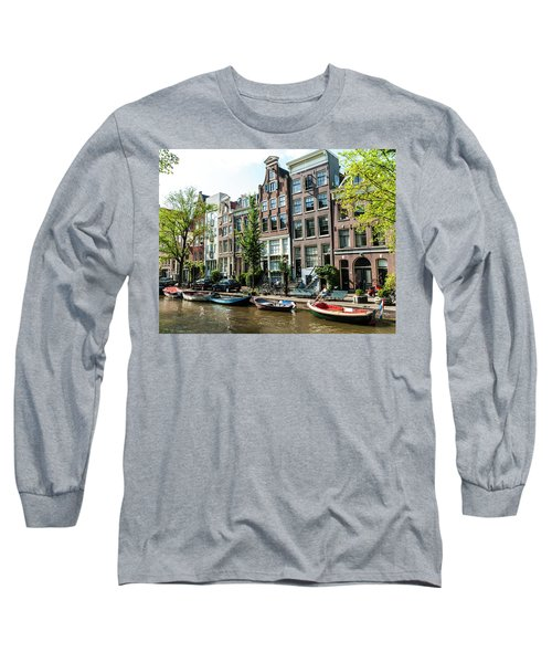 Along An Amsterdam Canal Long Sleeve T-Shirt